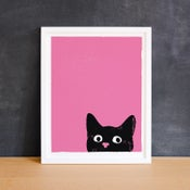 Image of Oh Hai Kitty Black Cat Small Giclee Print