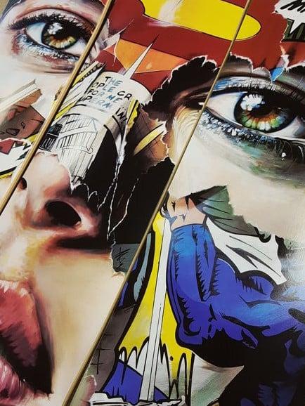 """Image of SANDRA CHEVRIER """"LA CAGE ET L EPARFUM DE LA FRUITE"""" - 3 SKATE BOARD SET"""