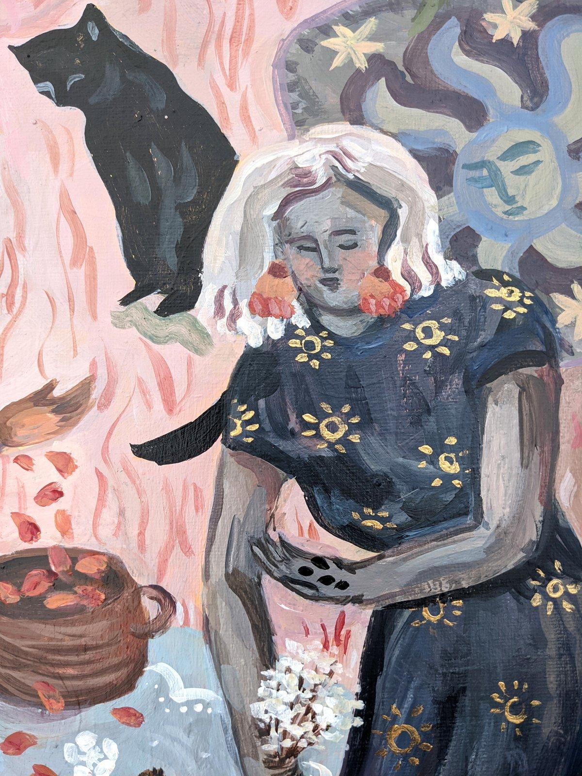 Image of Floor Magic | 16x20 Original acrylic painting on canvas