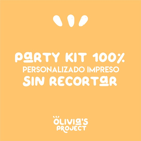 Image of Party Kit 100% personalizado IMPRESO