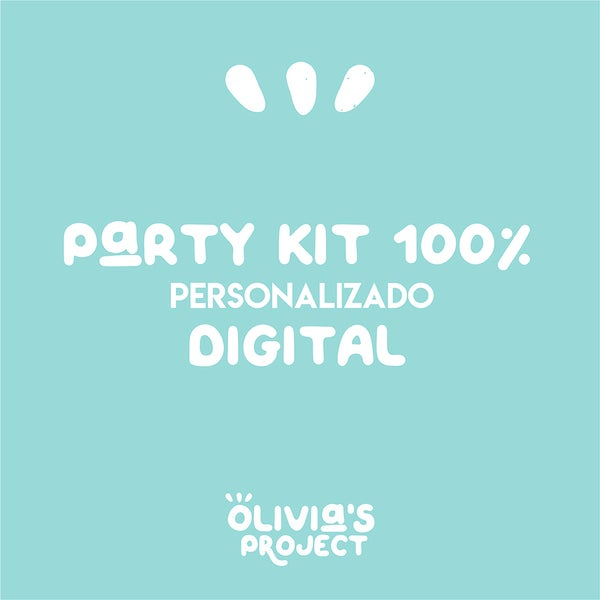 Image of Party Kit 100% personalizado DIGITAL