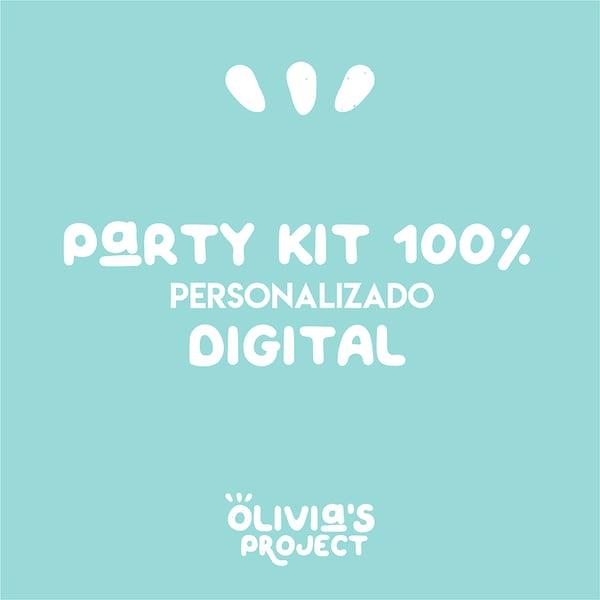 Image of Party Kit 100% personalizado DIGITAL