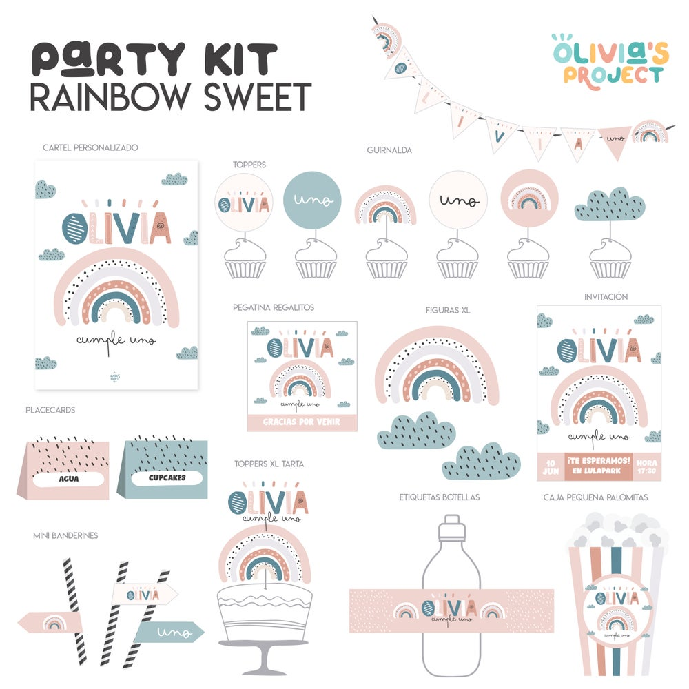 Image of Party Kit Rainbow Sweet