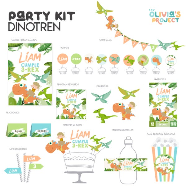 Image of Party Kit Dinotren