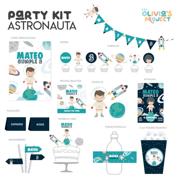 Image of Party Kit Astronauta