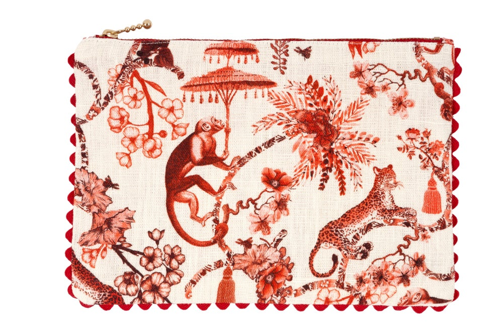 Image of Pochette sartoriale Chinoiserie - Chinoiserie sartorial pouch