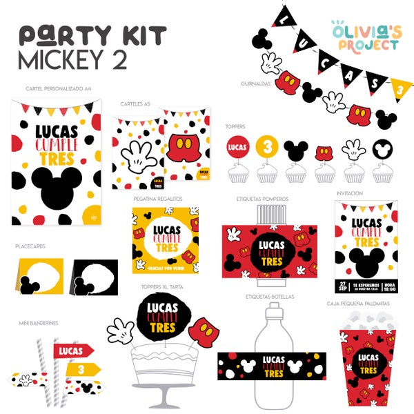 Image of Party Kit Mickey 2