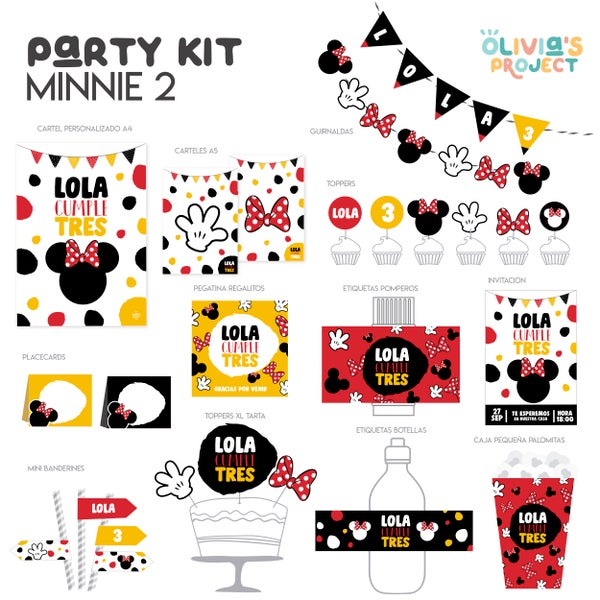 Image of Party Kit Minnie 2 Rojo