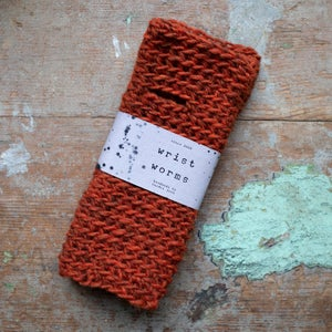 Image of Wrist Worms, Thick Wool, Burnt Orange
