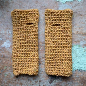 Wrist Worms, Thick Wool, Ocre