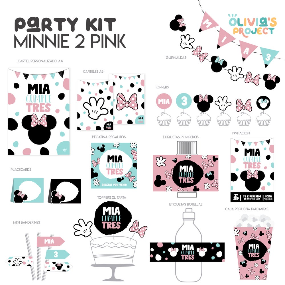 Image of Party Kit Minnie 2 Pink