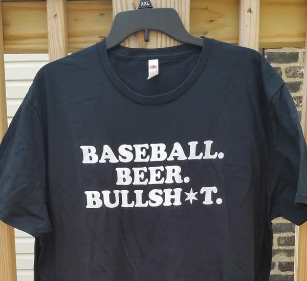 """Image of """"Baseball. Beer. Bullsh•t."""" Men's Shirt"""