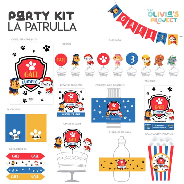 Image of Party Kit Patrulla Perritos Impreso