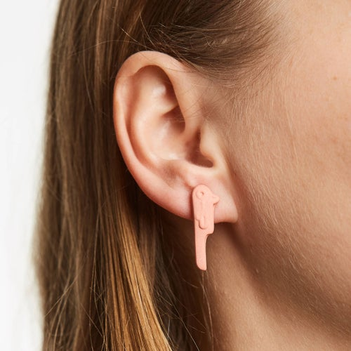 Image of manoa parrot earring