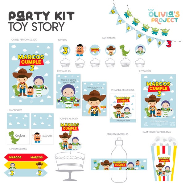 Image of Party Kit Toy Story Impreso