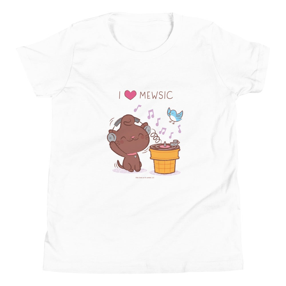 Image of I Love Mewsic - Youth Short Sleeve T-Shirt