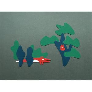 Image of La nuit du renard, illustration 30x40cm