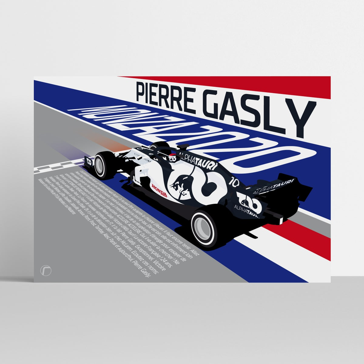 Image of Gasly: Monza 2020 | Limited Edition Race Poster