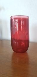 Ruby paw vase