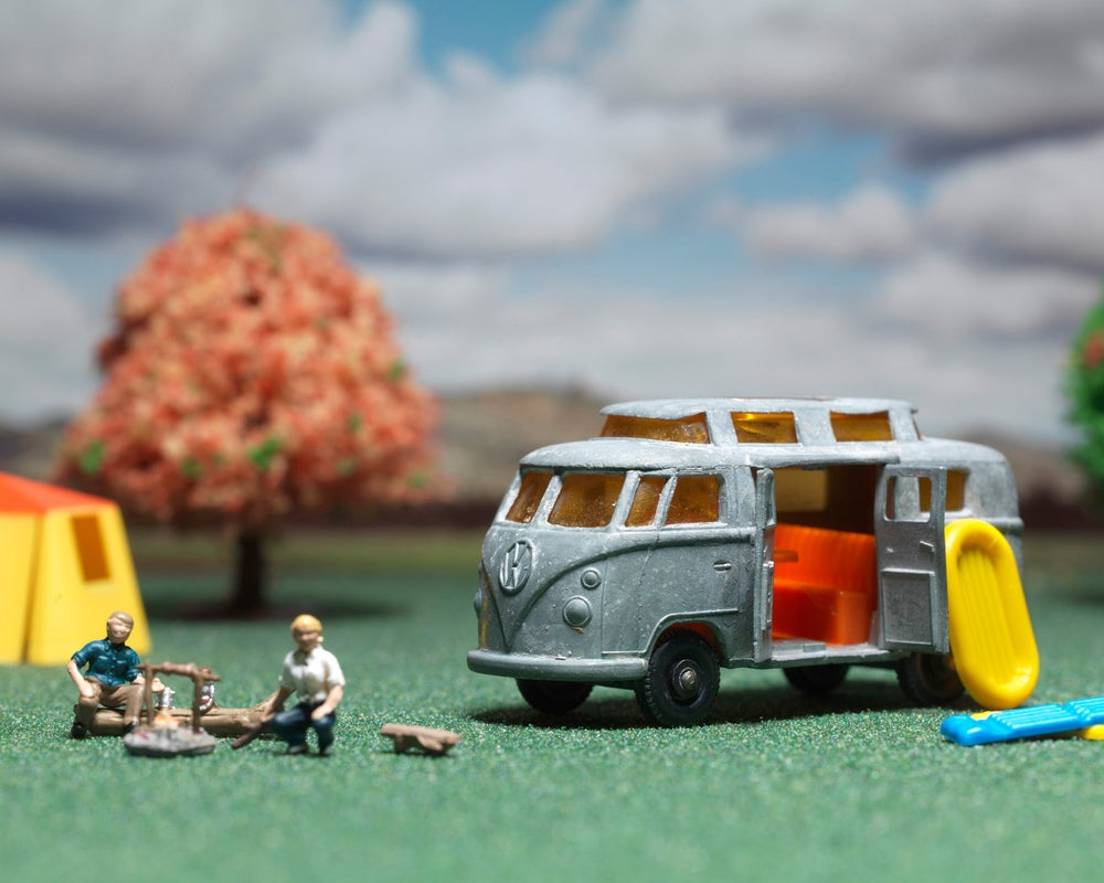 Image of VW Microbus Camping Weekend