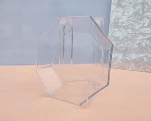 Faceted Glass Octagon Dish