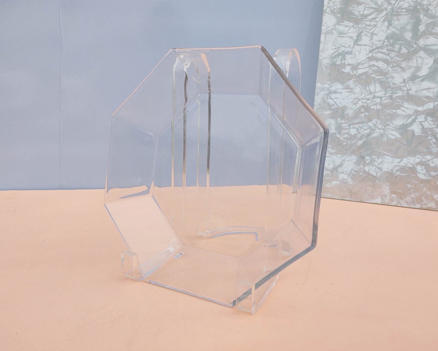 Image of Faceted Glass Octagon Dish