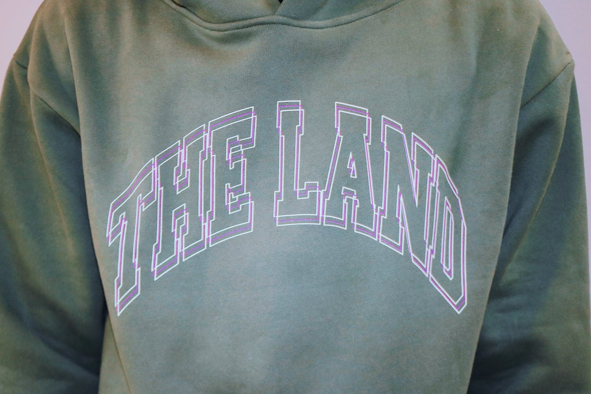"""Premium Collection """"The Land"""" Green Hoodie"""