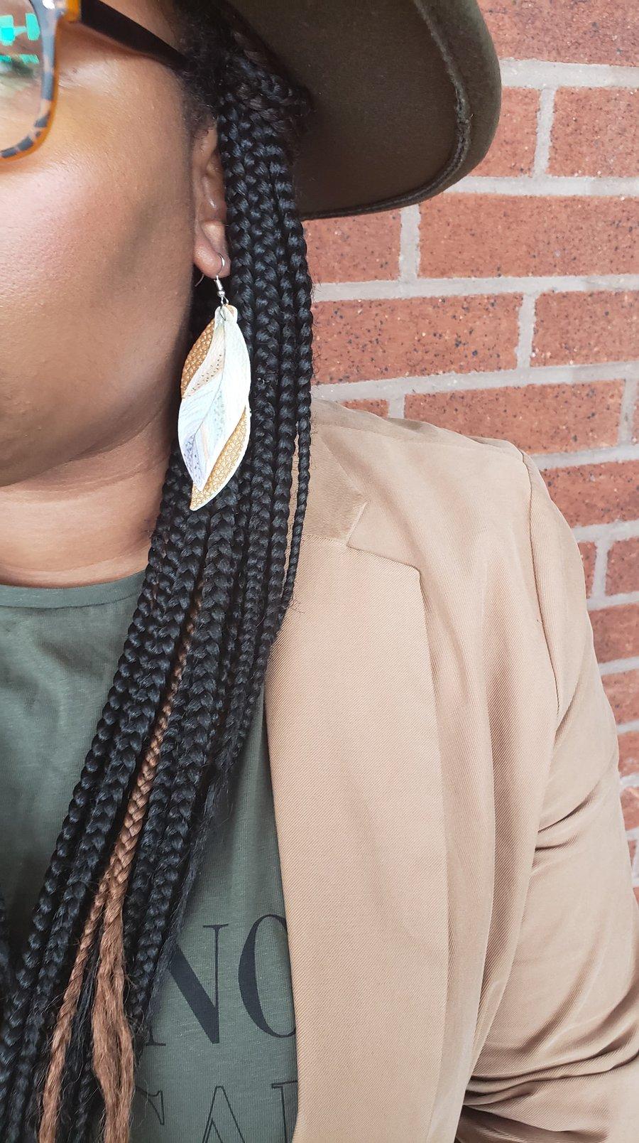 Image of  Melanie (Vegan Leather) earrings