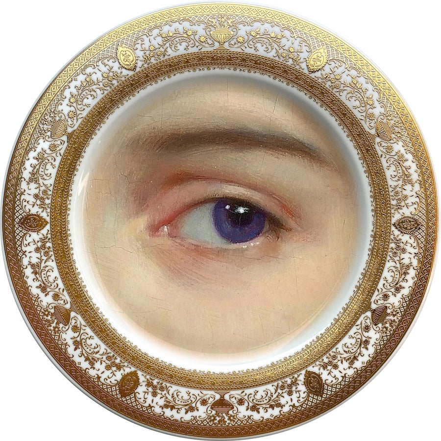 Image of Lover's Eye - Purple - Fine China Plate - #0738