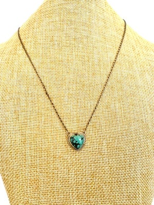 Indian Heart Turquoise Necklace