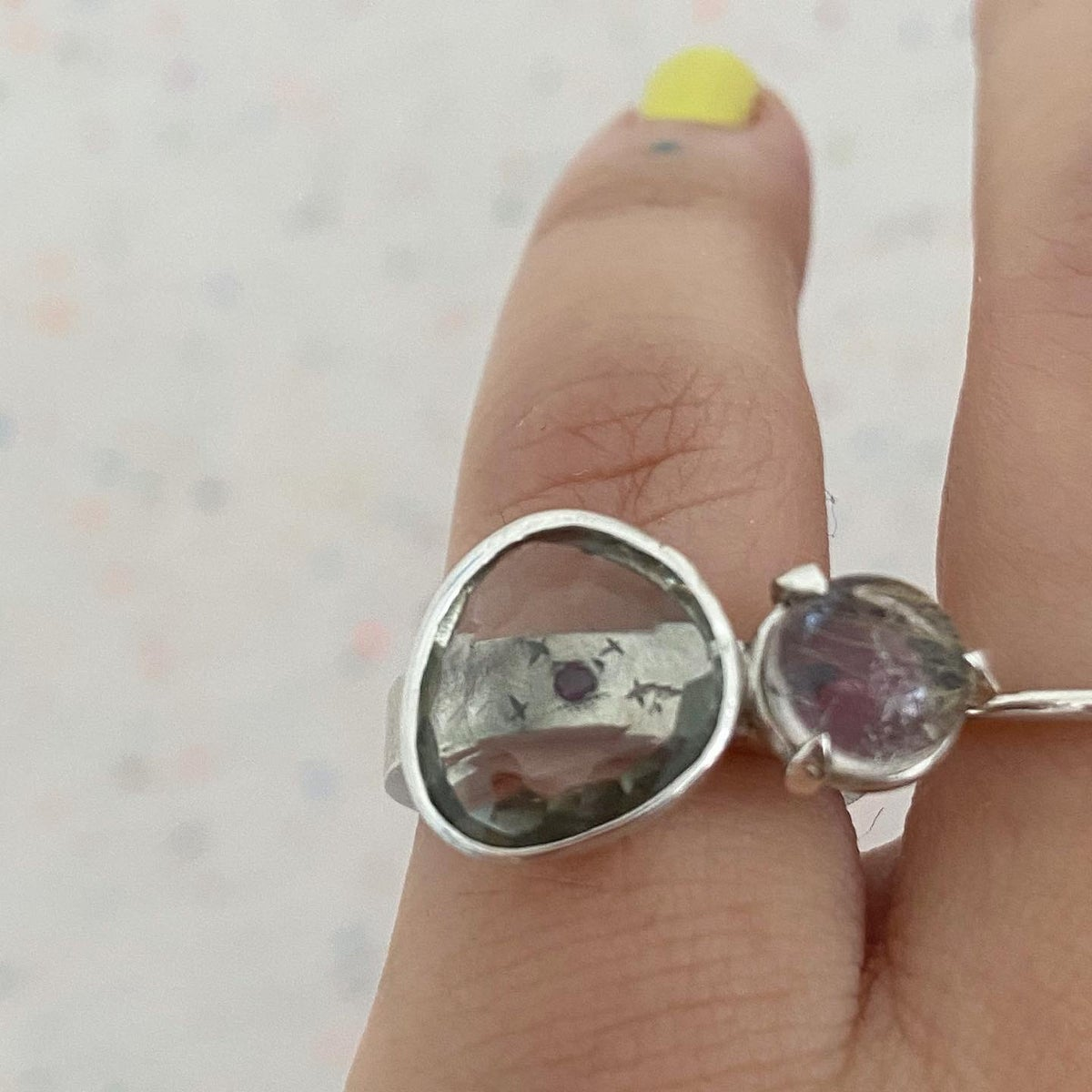 Image of Two stones ring