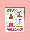 Happy Holidays Snowglobes - Greeting Card