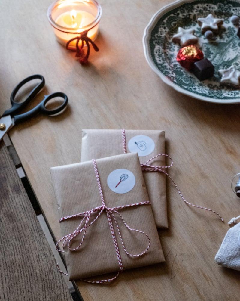 Image of Festive Baking Christmas Sticker Set