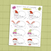 Santa's Workshop 🎅  Holiday Gift Tag Sticker Sheet 🦌