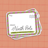 North Pole Mail - Gift Tag Sticker Pack