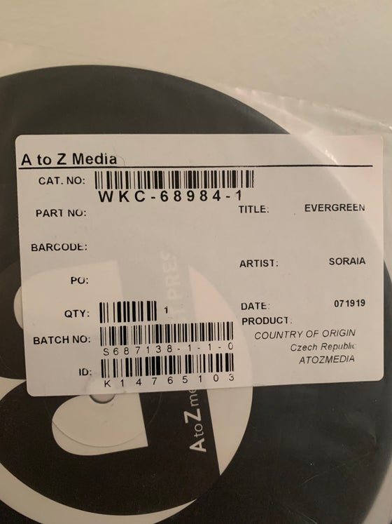 """Image of """"Evergreen"""" Test Pressing (*RARE* - only 3 test pressings in existence)"""