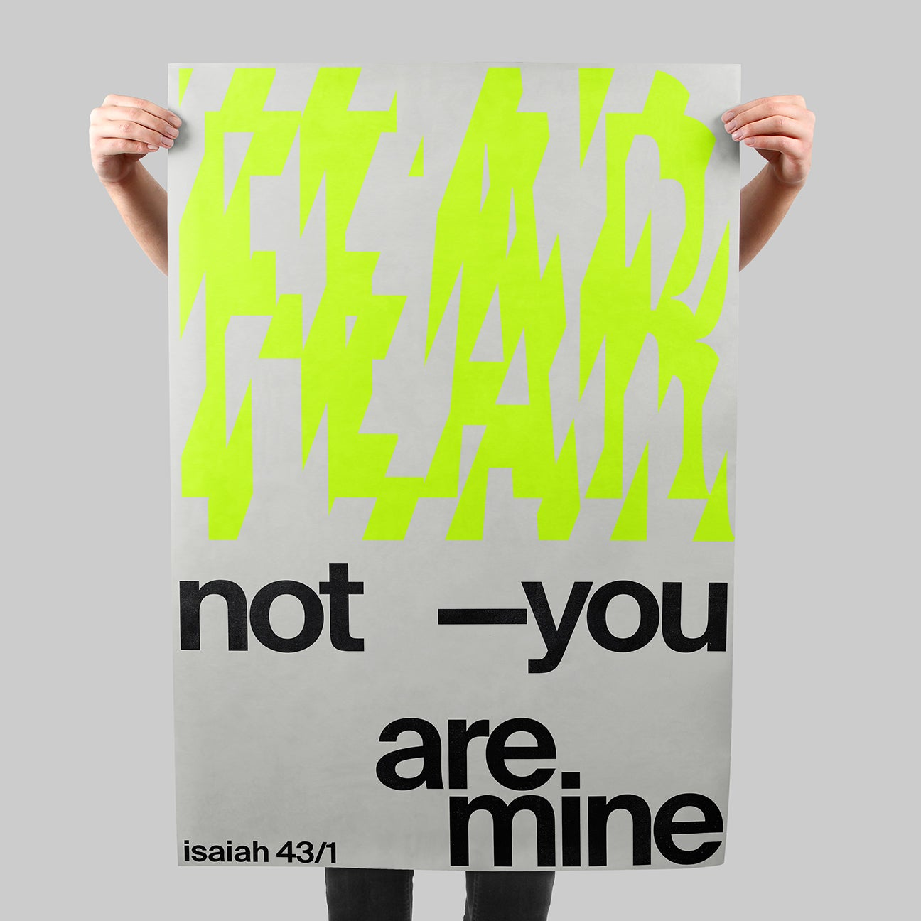 Fear Not SIGNAL A poster by Xtian Miller