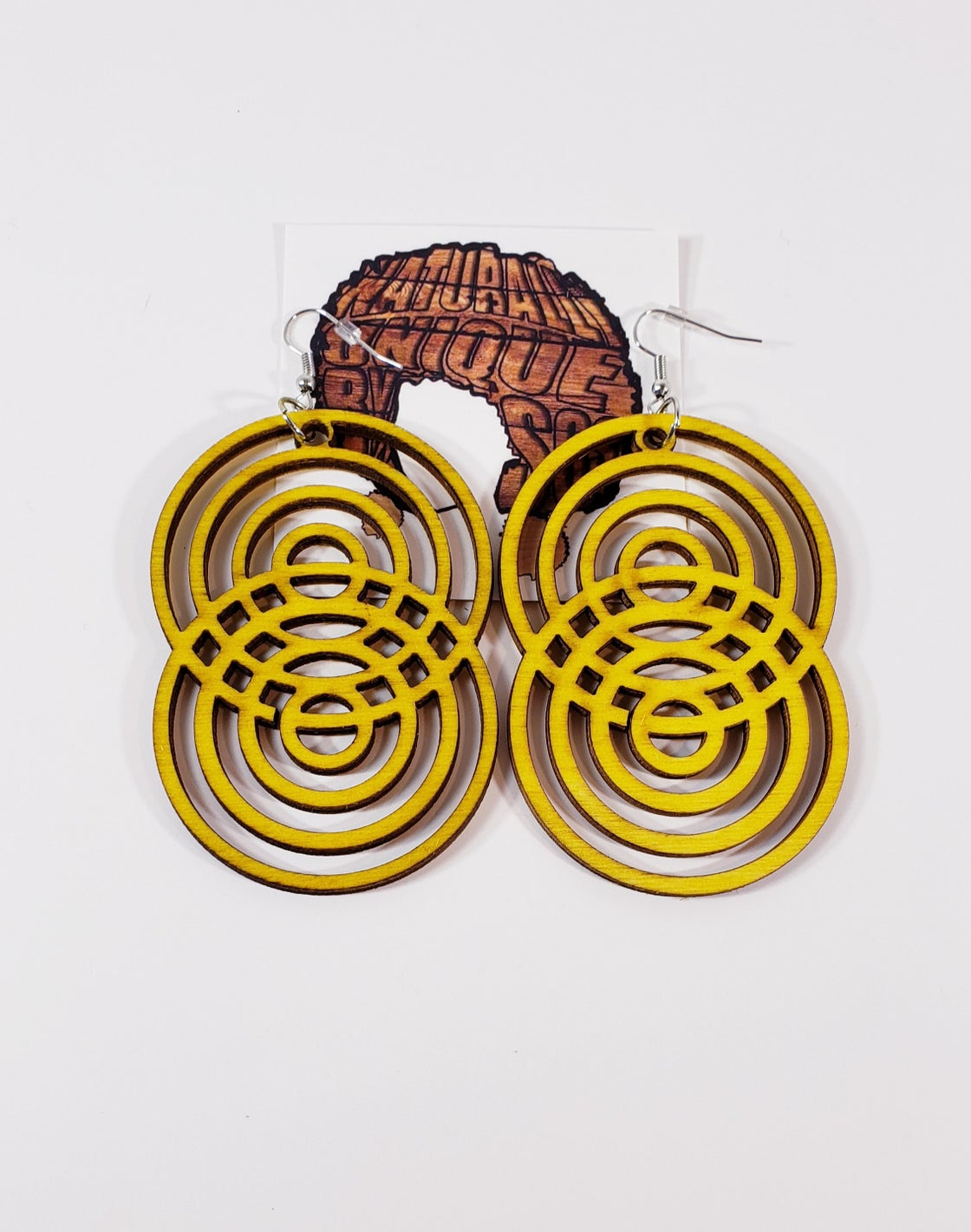Image of Crazy 8 Wooden Earrings