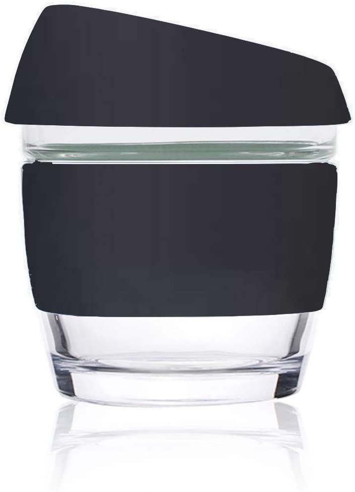 Image of 8oz Black - Wave Glass