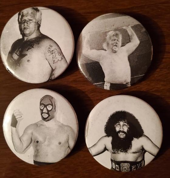 Image of Atlantic Wrestling Pinback Buttons