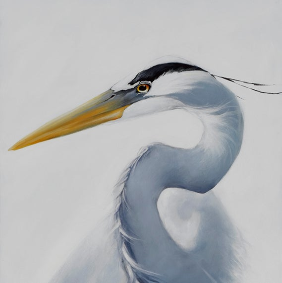 Image of Jaquie's Heron -Print by Miki Harder