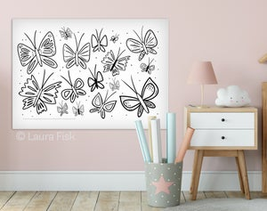 "Image of Giant Butterflies Coloring Sheet - 24"" x 36"""