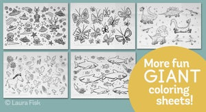"""Image of Cute Cats Giant Coloring Sheet 24"""" x 36"""""""