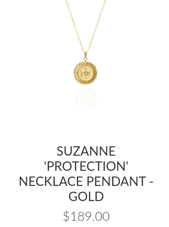 Image of Luna & Rose Suzanne 'Protection' charm and Necklace. Gold.