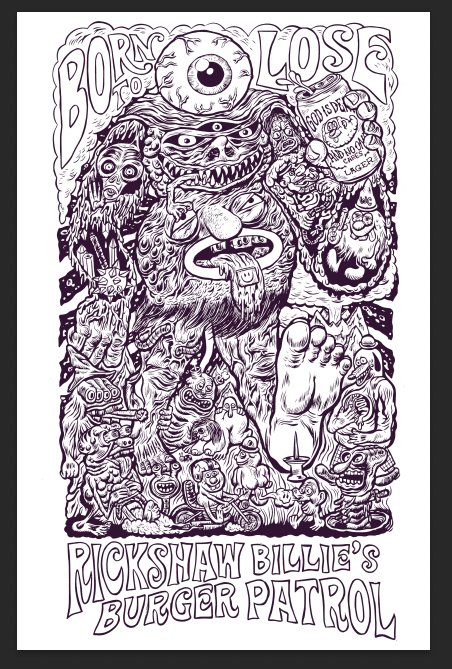 """Image of Born to Lose """"Acid Monster"""" Poster"""