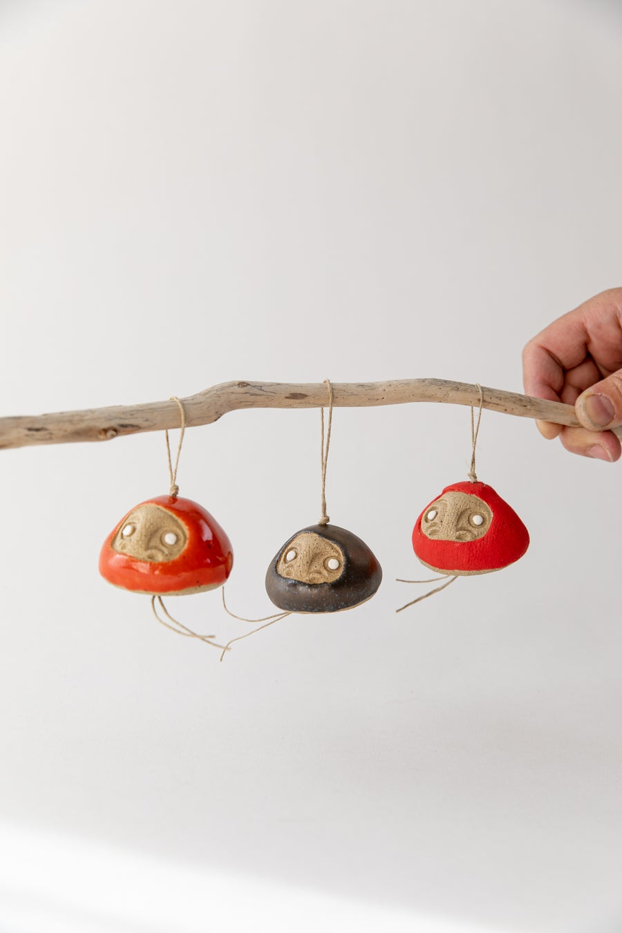 Image of Tiny Daruma Wishing Doll Ornament