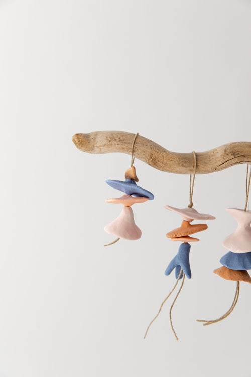 Image of Mini Floral Ornaments - Blue, Pink and Terracotta