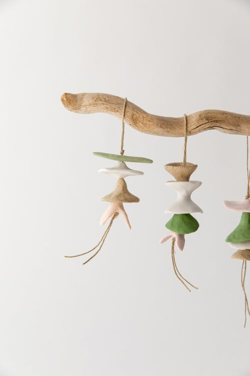 Image of Mini Floral Ornaments - Grass, Blush and Sand