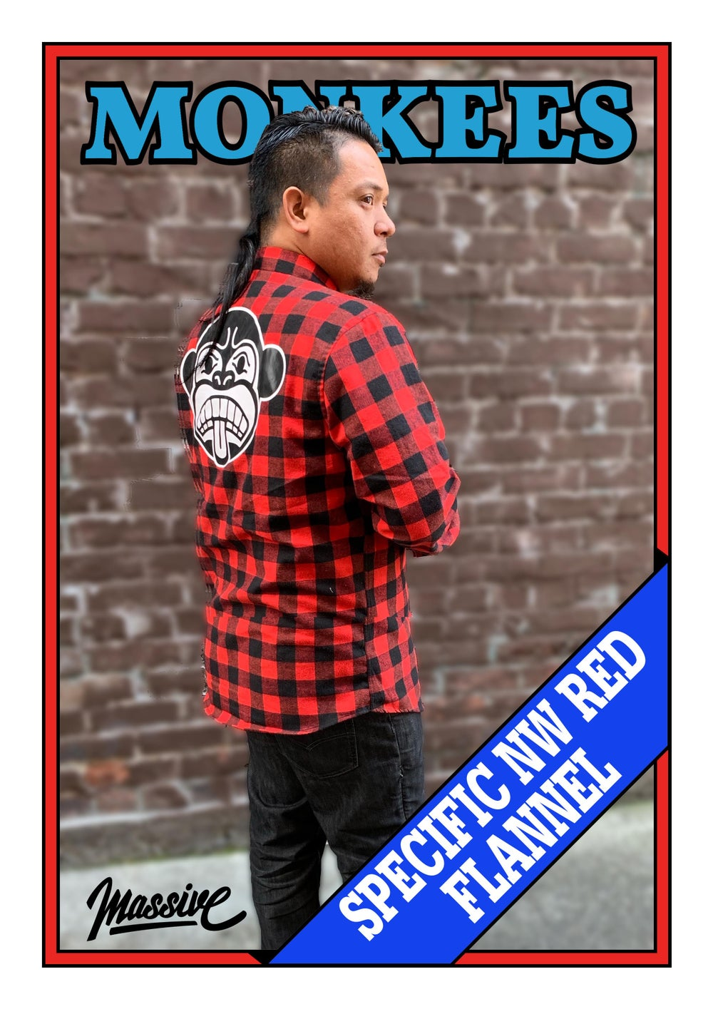 Specific Northwest  Flannel - Red