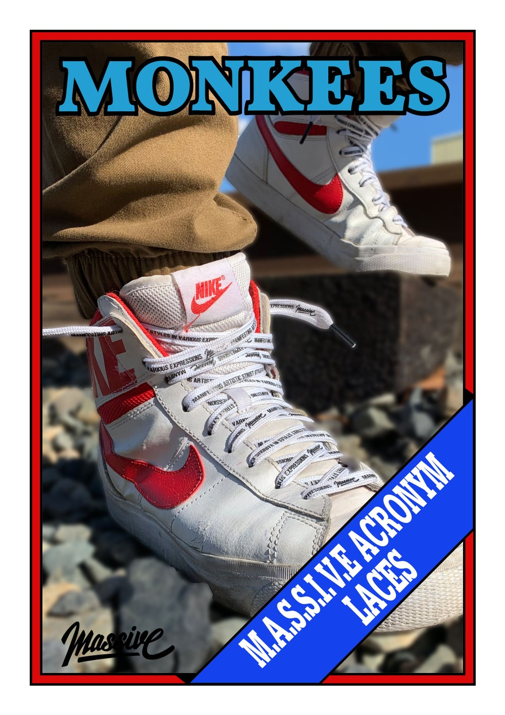 M.A.S.S.I.V.E White Shoelaces